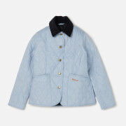 Barbour Girls' Summer Liddesdale Jacket - Powder Blue/Navy