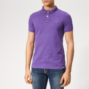 Superdry Men's Vintage Destroy Polo Shirt - Lilac