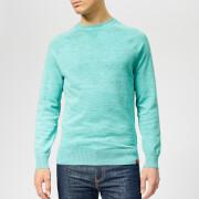 Superdry Men's Garment Dye L.A Crew Neck Jumper - Montrose Green
