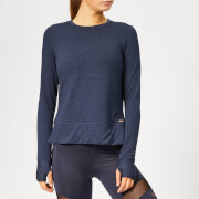 Superdry Sport Women's Active Mesh Studio Luxe Crew Neck Sweatshirt - Eclispe Navy Marl