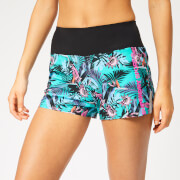 Superdry Sport Women's Active Loose Shorts - Lucy Tropical Print