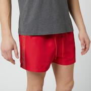 Calvin Klein Men's Short Swim Shorts - Lipstick Red