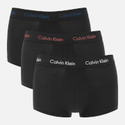 Calvin Klein Men's 3 Pack Low Rise Trunks - Black/Cayenne/Airforce
