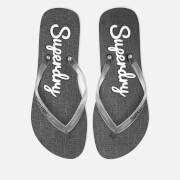 Superdry Women's Super Sleek Flip Flops - Black/Optic White