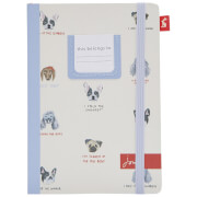 Joules Dog Print A5 Notebook