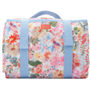 Joules Floral Picnic Rug - White