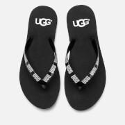 UGG Women's Simi Graphic Flip Flops - Black