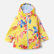 Joules Girls' Raindance Waterproof Coat - Yellow Floral