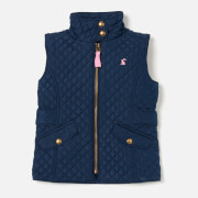 Joules Girls' Jilly Quilted Gilet - Navy
