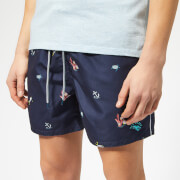 Ted Baker Men's Kelpe Diver Print Swim Shorts - Navy