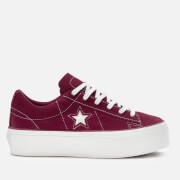 Converse Women's One Star Platform Ox Trainers - Rhubarb/White
