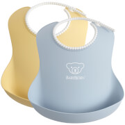 BABYBJÖRN Baby Bib - Powder Yellow and Powder Blue (2 Pack)