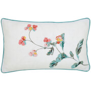 Joules Cottage Check Cushions - Crème
