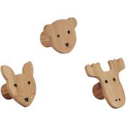 Kids Concept Figure Hooks - Set of 3