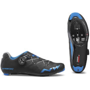 Northwave Extreme GT Road Shoes - Black/Blue Metal