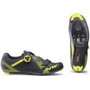 Northwave Storm Carbon Road Shoes - Black/Yellow Fluo