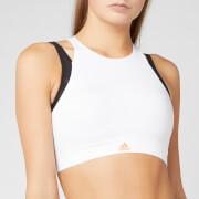 adidas Women's Halter 3.0 Bra - White