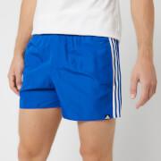 adidas Men's 3 Stripe Swim Shorts - Blue