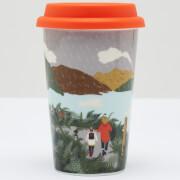Joules White Rain Travel Mug
