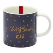Joules Christmas Bee Mug - Navy