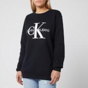 Calvin Klein Jeans Women's Monogram Logo Sweatshirt - CK Black