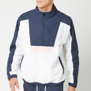 Reebok Men's MYT Woven 1/2 Zip Jacket - White/Blue