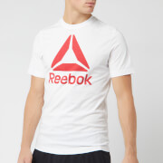 Reebok Men's Reebok Stacked Short Sleeve T-Shirt - White