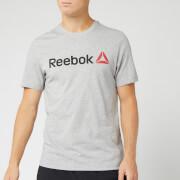 Reebok Men's Reebok Linear Read Short Sleeve T-Shirt - Grey