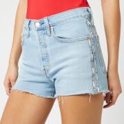 Levi's Women's 501 High Rise Tape Shorts - Light Indigo