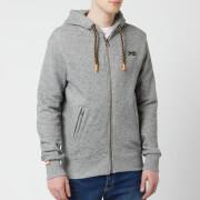 Superdry Men's Orange Label Hyper Pop Zip Hoody - Portland Charcoal Grit