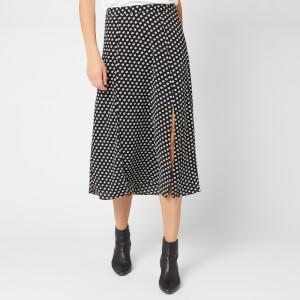 MICHAEL MICHAEL KORS Women's Slit Front Skirt - Black/Bone