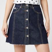 Superdry Women's Denim A Line Skirt - 70's Blue
