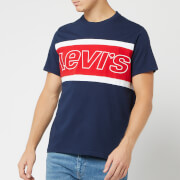 Levi's Men's Color Block Jersey T-Shirt - Dress Blues