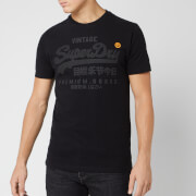 Superdry Men's Premium Goods Tonal T-Shirt - Black