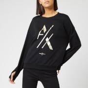 Armani Exchange Women's Foil Logo Sweater - Black