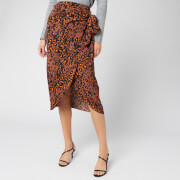 Whistles Women's Brushed Leopard Sarong Skirt - Brown/Multi