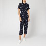 Whistles Women's Brushstroke Print Jumpsuit - Navy/Multi
