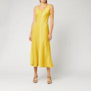 Whistles Women's Pippa Satin Slip Dress - Yellow