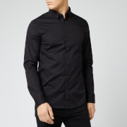 Armani Exchange Men's Small Logo Long Sleeve Shirt - Black