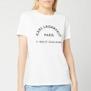 Karl Lagerfeld Women's Address Logo T-Shirt - White