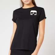 Karl Lagerfeld Women's Ikonik Karl Pocket T-Shirt - Black