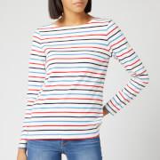 Joules Women's Harbour Long Sleeve Top - Cream Navy Red