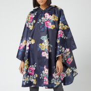 Joules Women's 30th Anniversary Floral Poncho - Navy