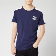 Puma Men's Iconic T7 Slim Fit Short Sleeve T-Shirt - Peacoat