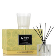 NEST Fragrances Limited Edition Grapefruit Petite Candle and Reed Diffuser Set