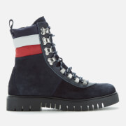 Tommy Jeans Women's Padded Nylon Lace Up Boots - Midnight