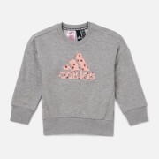 adidas Girls' Young Girls Crew Neck Sweatshirt - Grey