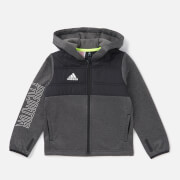 adidas Boys' Young Boys Pad Full Zip Hoody - Black/Grey