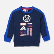 adidas Boys' Little Boys Spider-Man Crew Neck Sweatshirt - Blue