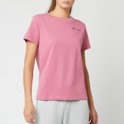 Champion Women's Small Script Short Sleeve T-Shirt - Heather Rose
